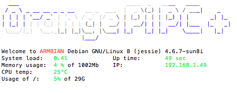 Orange Pi PC Plus linux kernel 4 (4.6.7) armbian debian 8 jessie